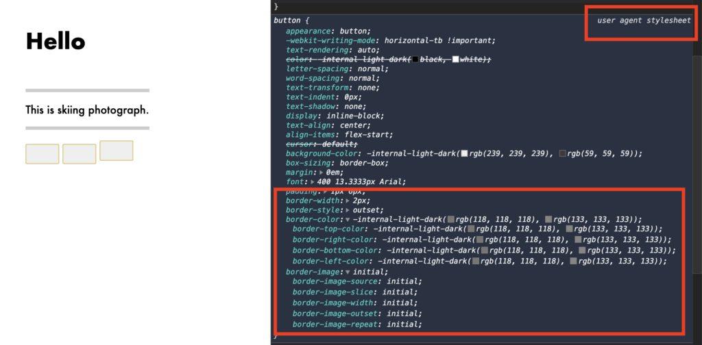 user agent stylesheet example