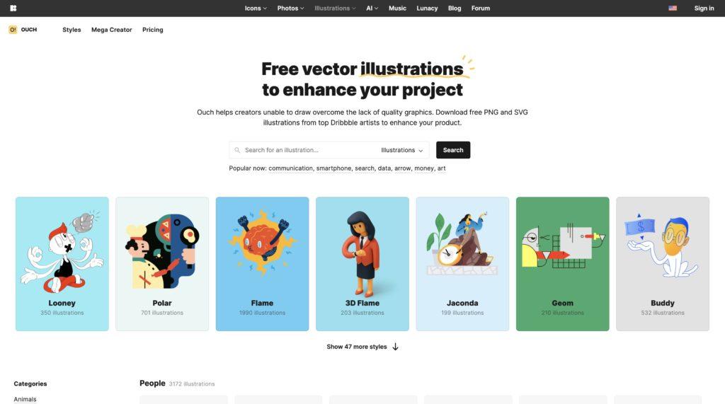 無料(フリー)で使える商用利用可能なイラスト素材サイト
